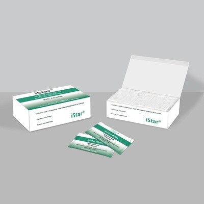 iSTAR 75% ALCOHOL WET WIPES - LIGHTWEIGHT SACHETS 20 BOXES / CTN