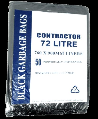 CONTRACTOR BIN LINER 72 LITRE HDPE BLACK CTN 250