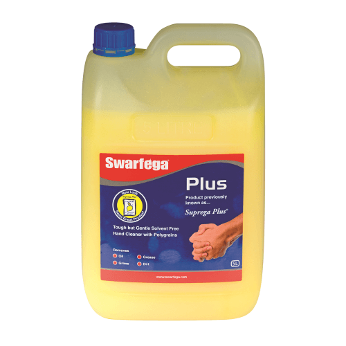 DEB SWARFEGA PLUS HEAVY DUTY HAND CLEANSER WITH POLYBEADS 5KG BOTTLE