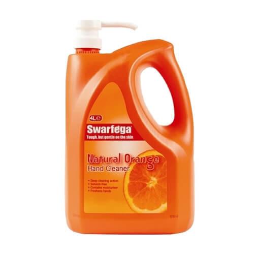 DEB SWARFEGA ORANGE HAND CLEANER 4L BOTTLE WITH PUMP