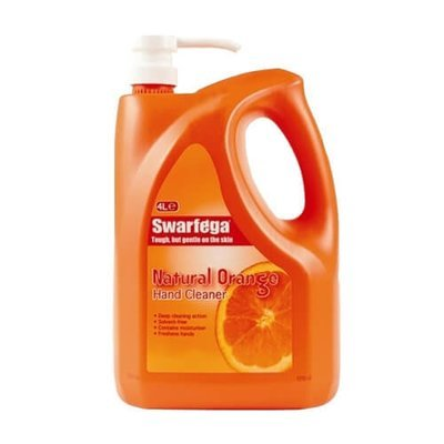 DEB SWARFEGA ORANGE HAND CLEANER 4L BOTTLE WITH PUMP