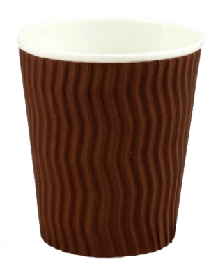 CAPRI COFFEE CUP DUAL WALL BROWN 227ml (8oz)