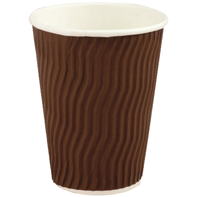 PAPER CUPS DOUBLE WALL BROWN 355ml (12oz)
