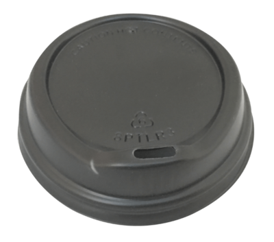 SIPPA LID BLACK, TO SUIT 227ml (8oz) CUPS