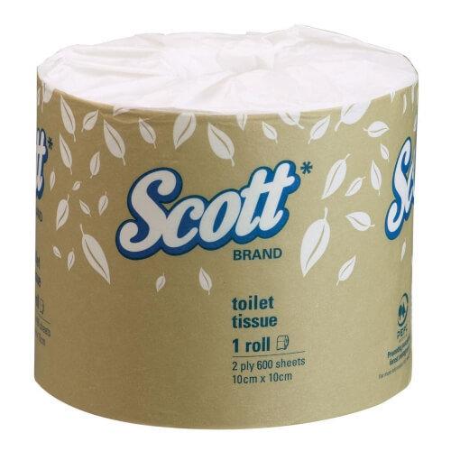 SCOTT 5742 TOILET TISSUE 2 PLY 600 SHEETS CTN 24