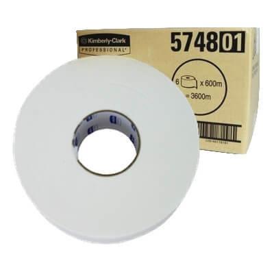 SCOTT 5748 COMPACT JUMBO TOILET ROLL 1 PLY 600M CTN 6