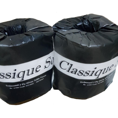 CLASSIQUE SOFT TOILET TISSUE 2 PLY 400 SHEETS CTN 48