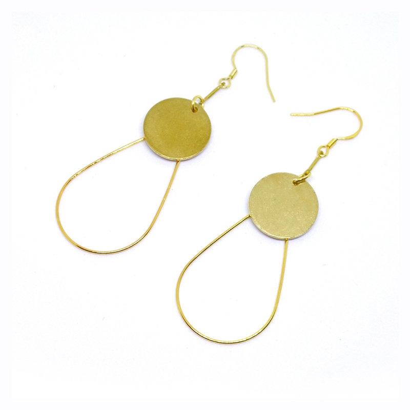 Golden Swing- 925 golden hook, copper, unique, handmade, Hong Kong, fashion accessories