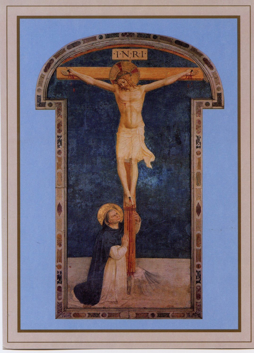 St. Dominic Adoring the Crucifixion Holy Card (Twenty-Five Pack)