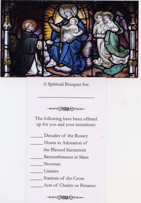 Spiritual Bouquet Holy Cards - Ten Pack