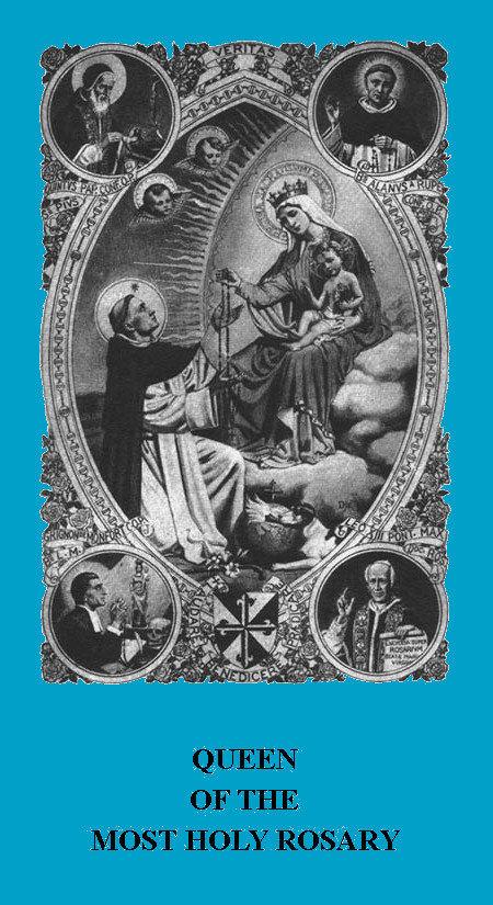 Rosary Confraternity Prayer Card