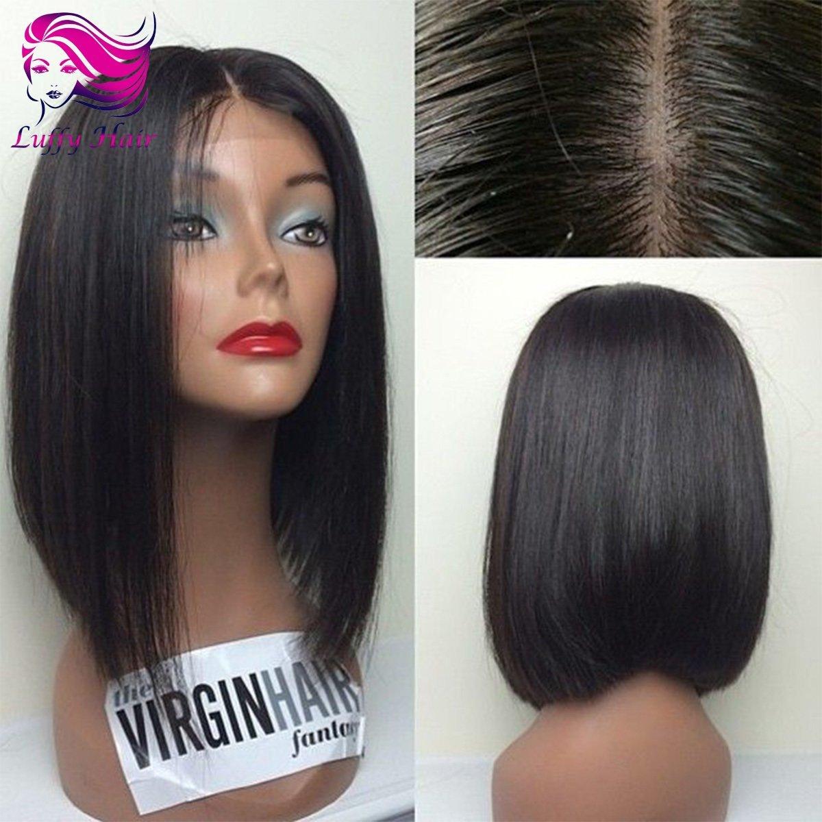 "8A Virgin Human Hair 8""-14"" Short Bob Wig - KWL038B"