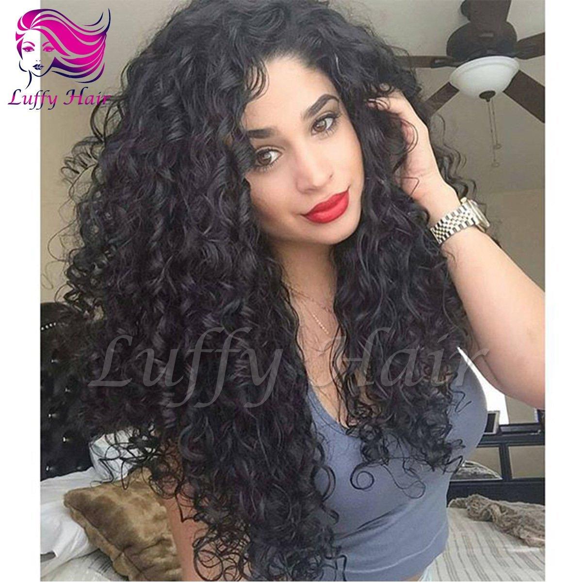 8A Virgin Human Hair 180% Density Curly Wig - KWL024
