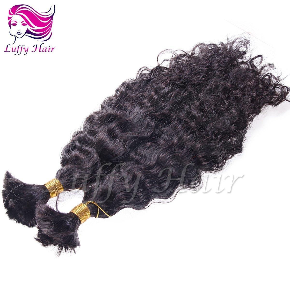 8A Virgin Human Hair Natural Wave Braiding Hair Bulk - KBL004