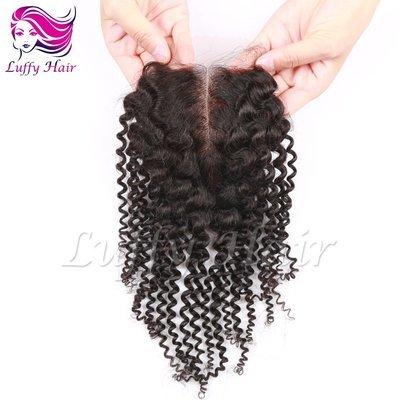 8A Virgin Human Hair 4x4 Kinky Curly Lace Closure- KCL005