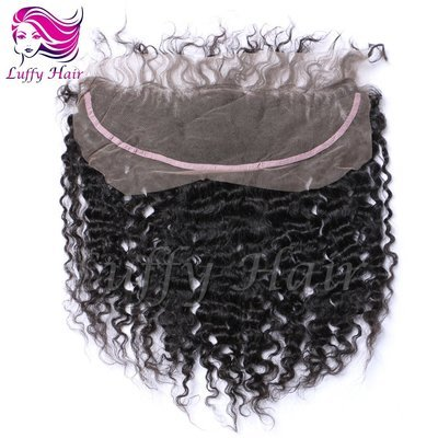 8A Virgin Human Hair 13x4 Curly Lace Frontal - KCL004