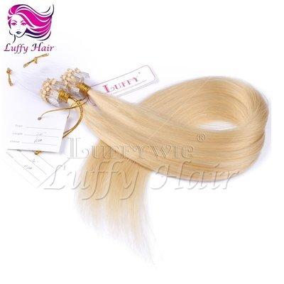 10A Virgin Human Hair Color #613 Silky Straight Micro Loop Ring Hair Extensions - KML006