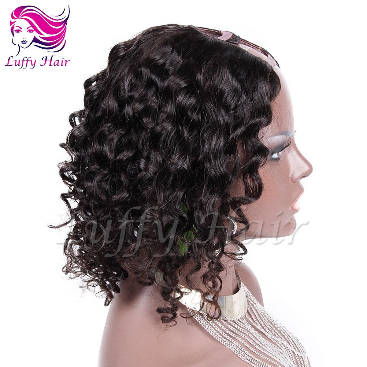 8A Virgin Human Hair Body Wave U Part Wig - KWU014