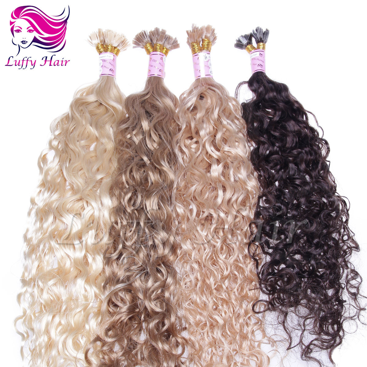 8A Virgin Human Hair Water Wave Fusion Hair Extensions - KFL007