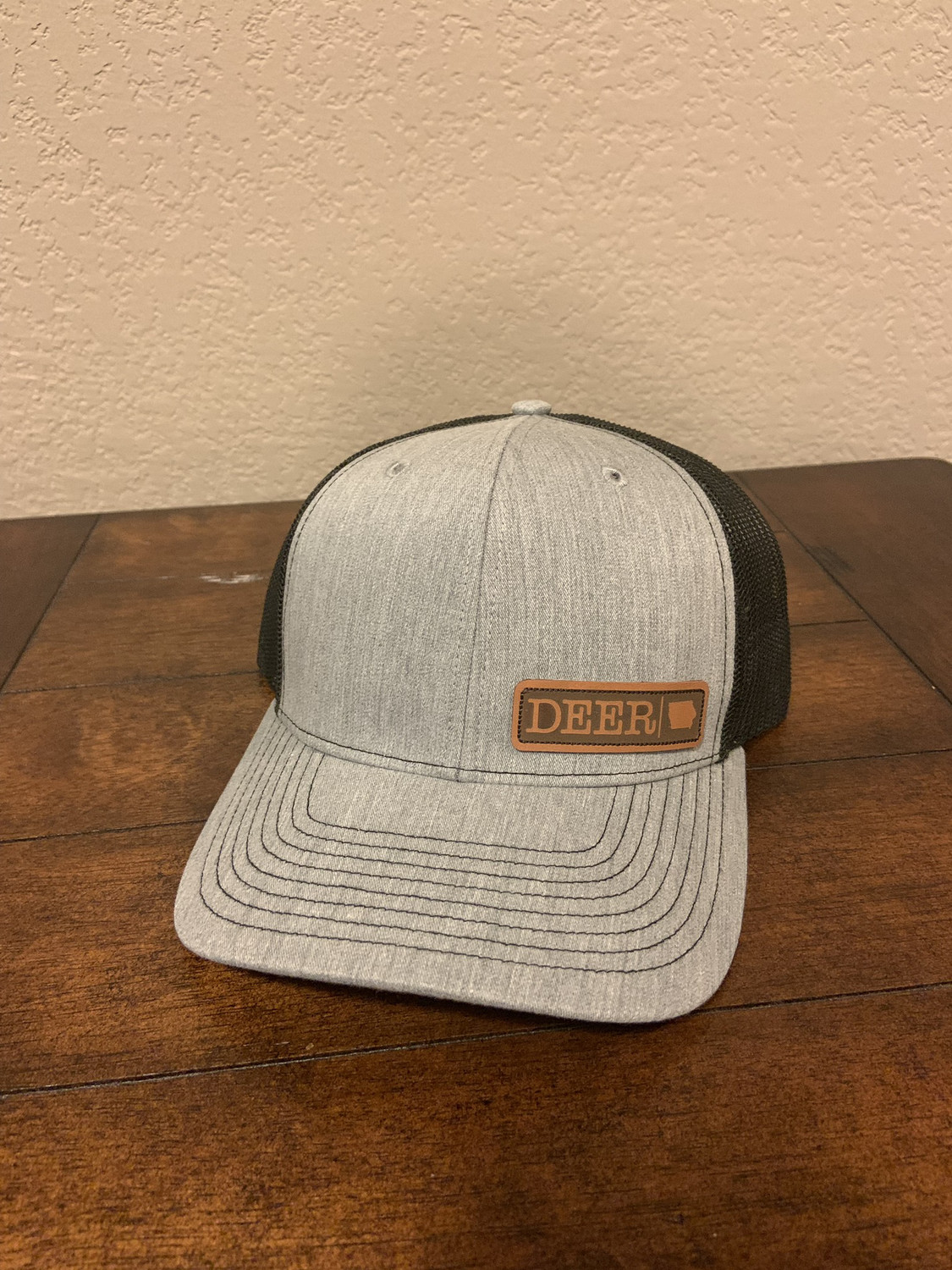 Gray DEER Patch Hat