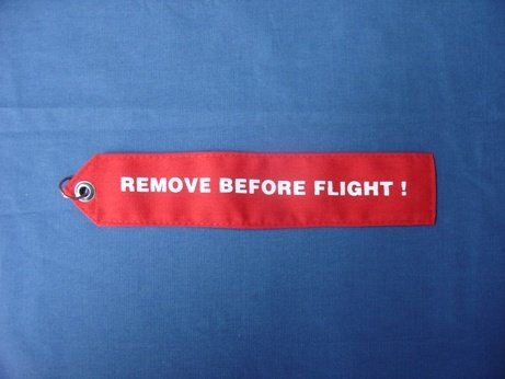 Remove Before Flight Flag RBF-10