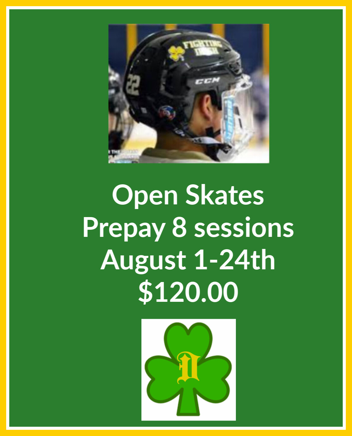 OPEN SKATE  AUGUST 1 * 24 Southgate Civic Arena