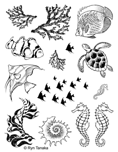 Sea Creatures 1 - Unmounted stamps