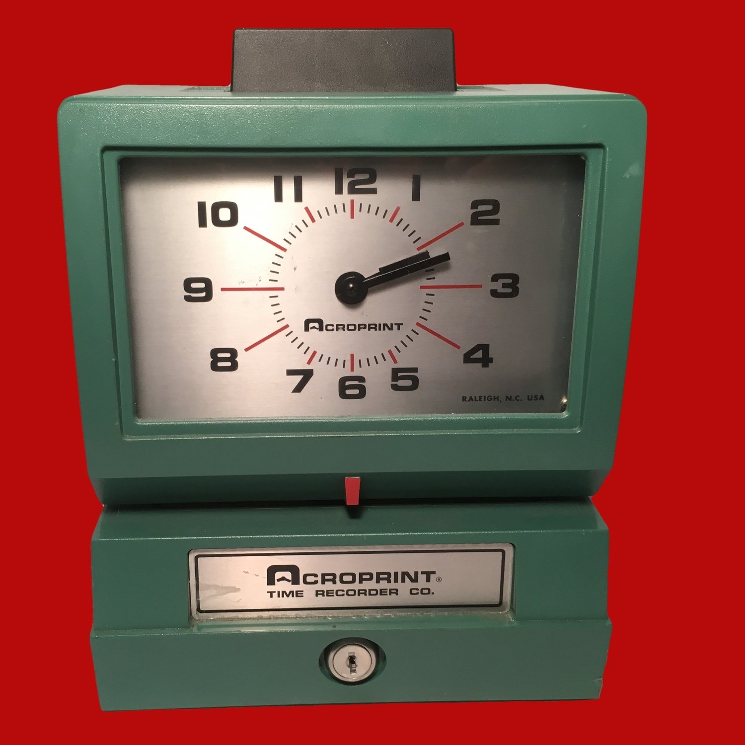 Working Electric Timeclock - Shelf Candy or for Work