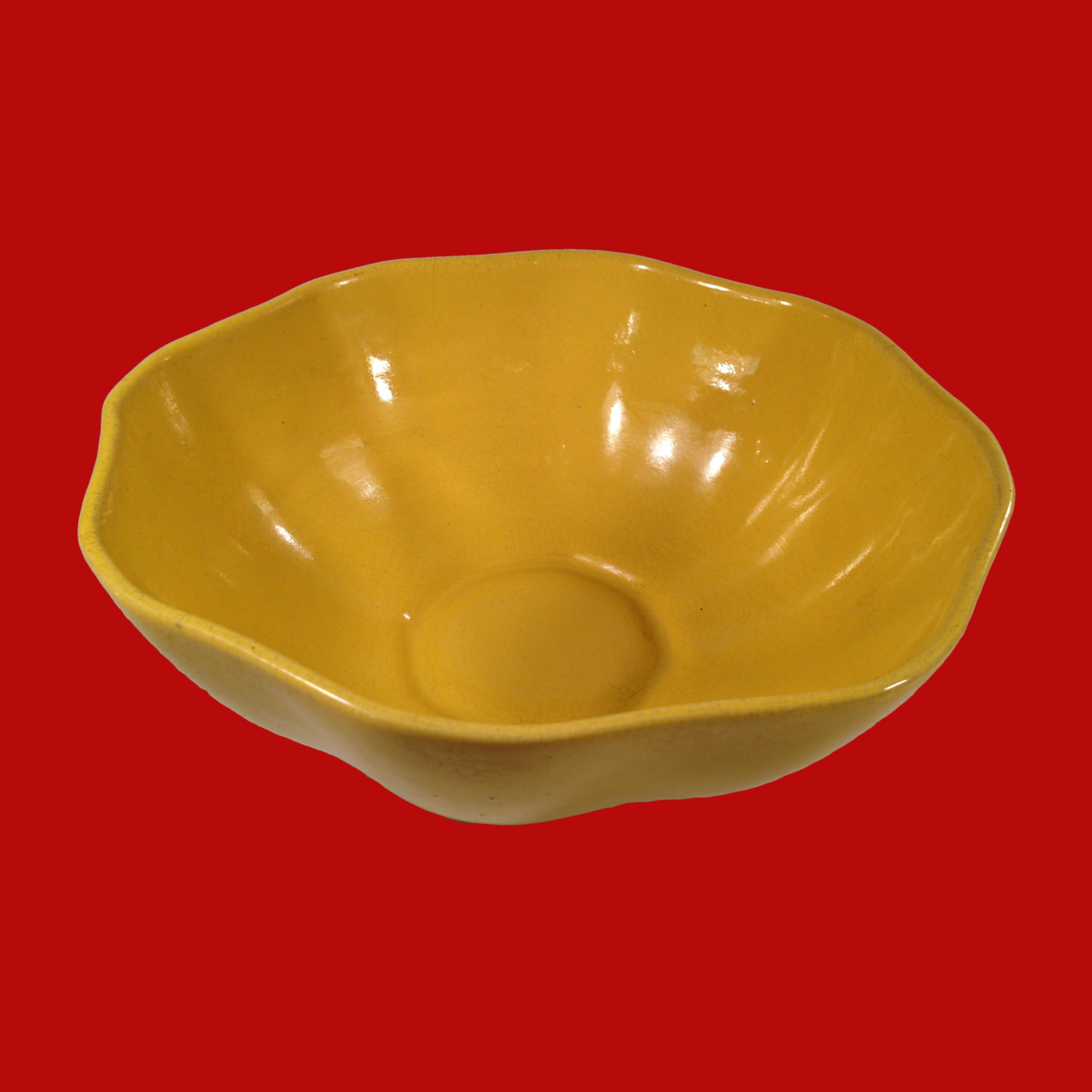 Padre Pottery Yellow Bowl California Pottery