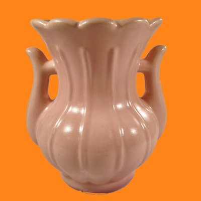 Rumrill Peach Two Handled Vase