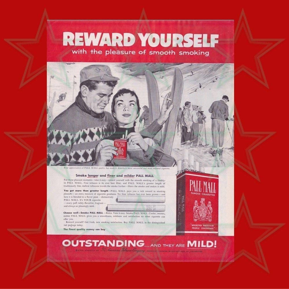 Pall Mall Magazine Advertisement Cigarettes Smoking - ORIGINAL