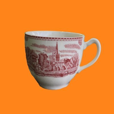 Johnson Bros Old Britain Castles Red Transfer Ware Cup