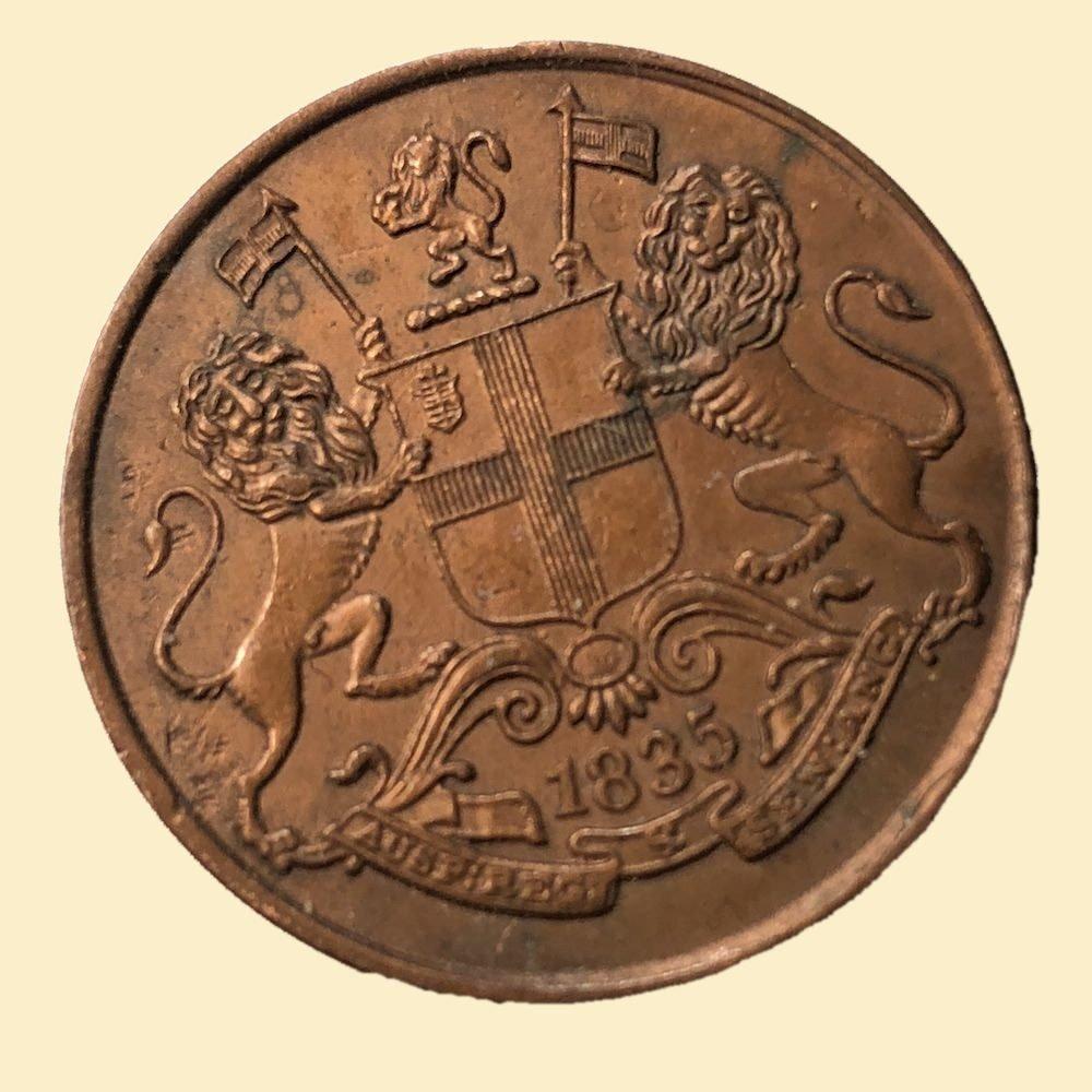 East India Company Half Anna Coin 1835