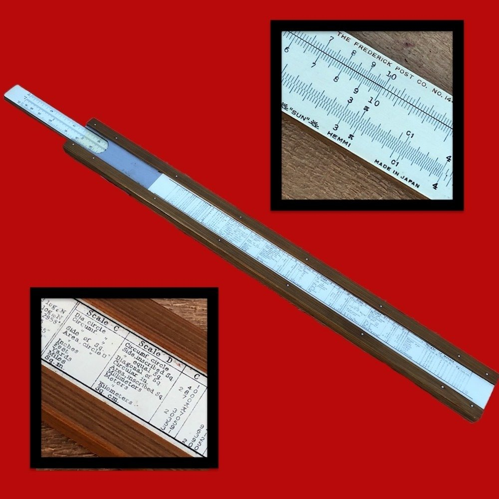 Frederick Post Slide Rule 1446 Made in Japan by Hemmi