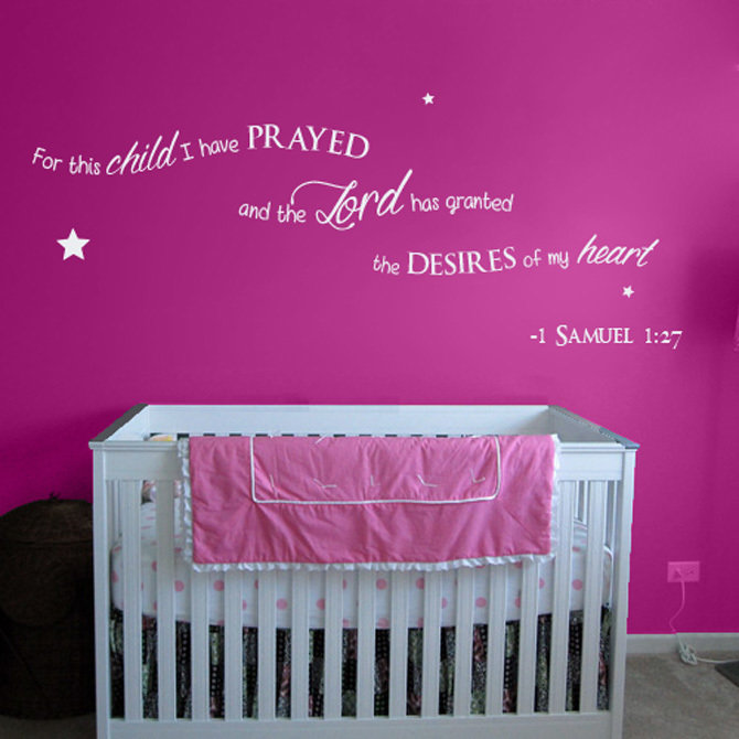 For this child I have prayed