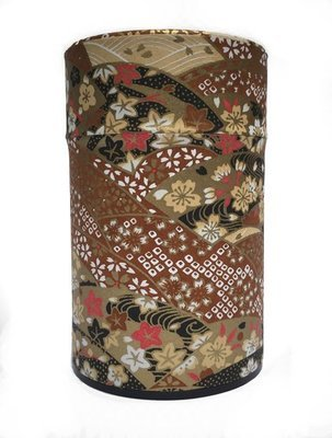 ​Japanese Fan Tea Canister (Brown - 150g)