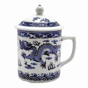 Classic Chinese Ming Dragon Mug (Blue & White)