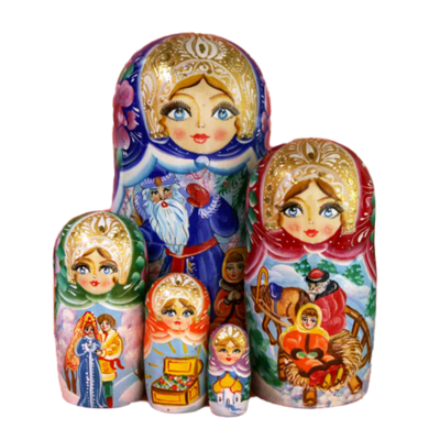 Winter Nesting Dolls