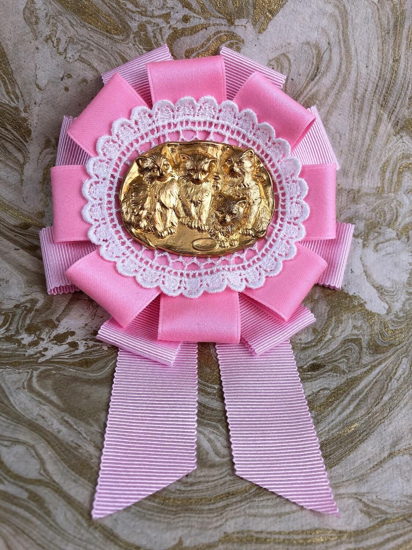 cat family rosette (pink)