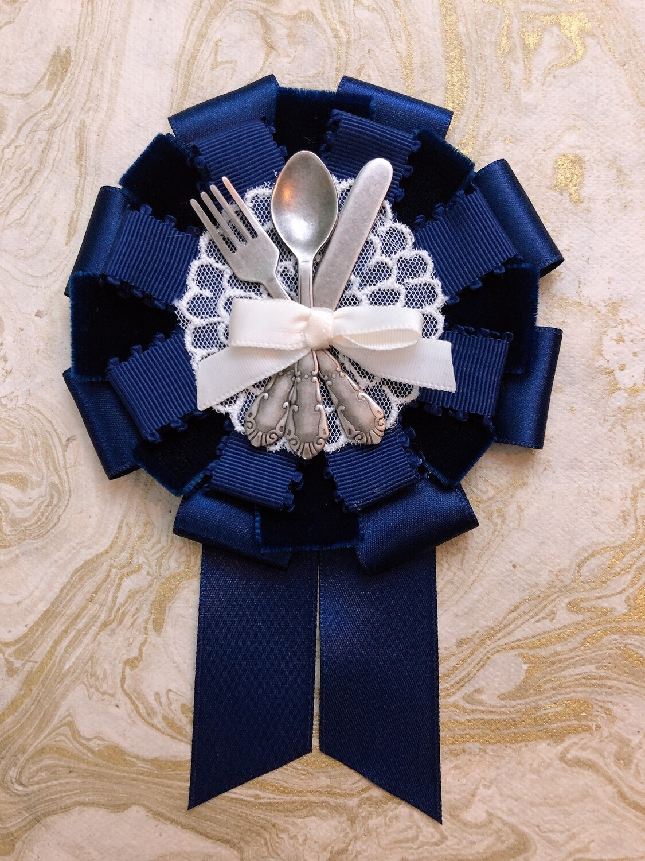 navy cutlery rosette