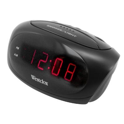 Westclox LED Digital Alarm Clock 70044A