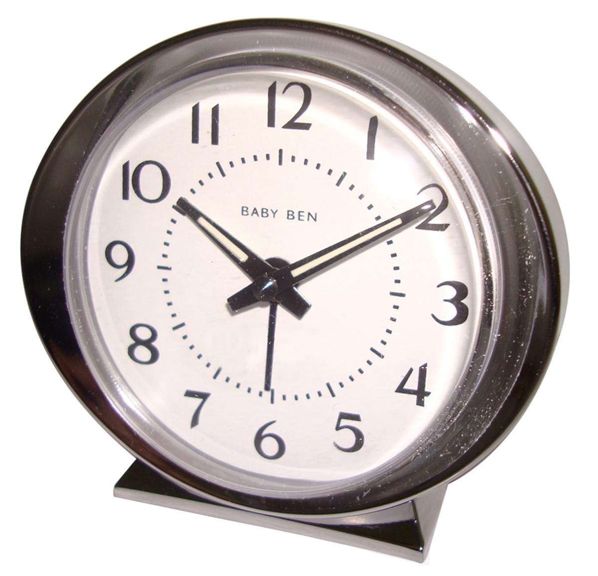 Westclox 1964 Baby Ben Classic Analog Battery Alarm Clock Ivory 11611QA