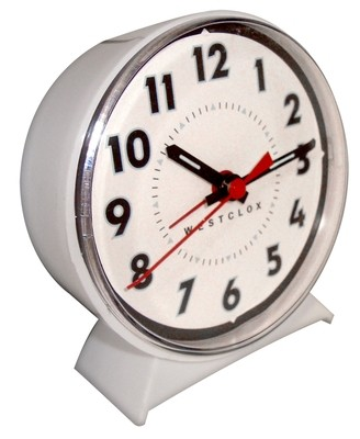 Westclox Keno Loud Bell Alarm Clock White 15550