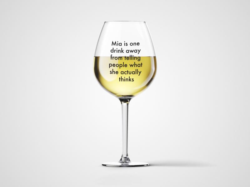Čaša za vino One drink away