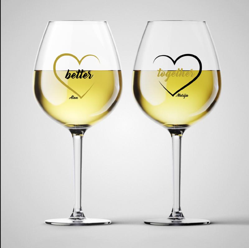 Komplet čaša za vino Better Together