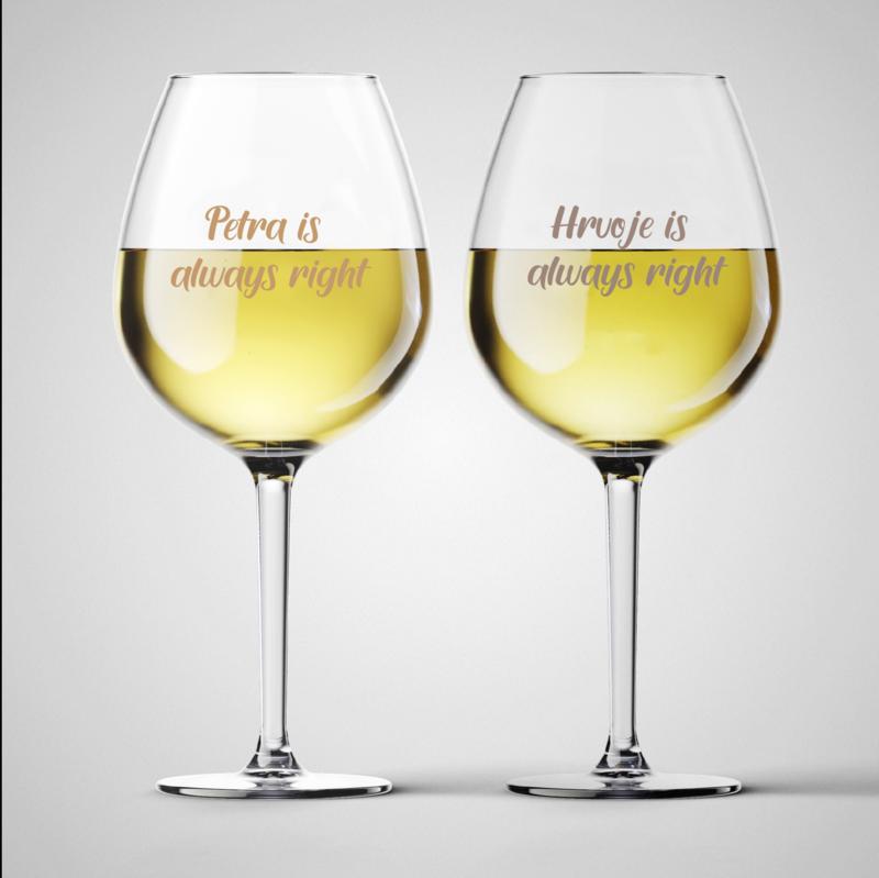 Komplet čaša za vino Always Right