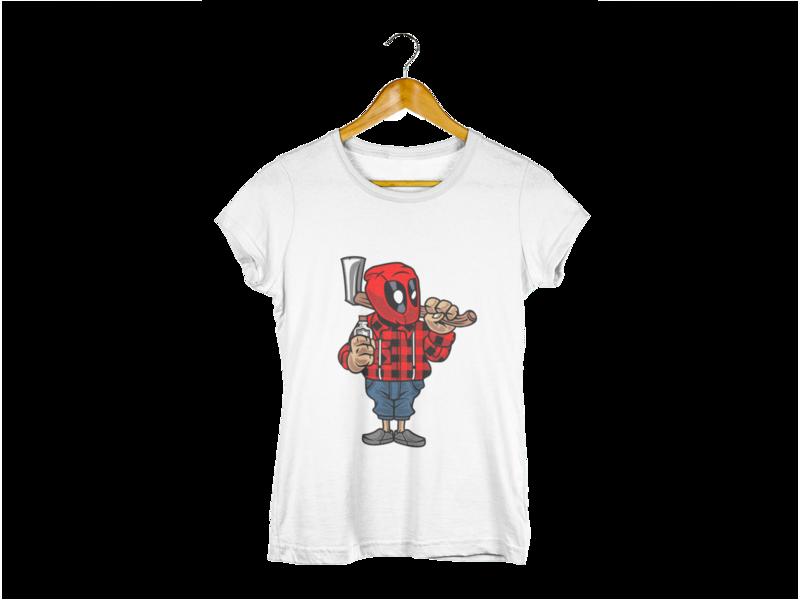 Majica Wood Deadpool