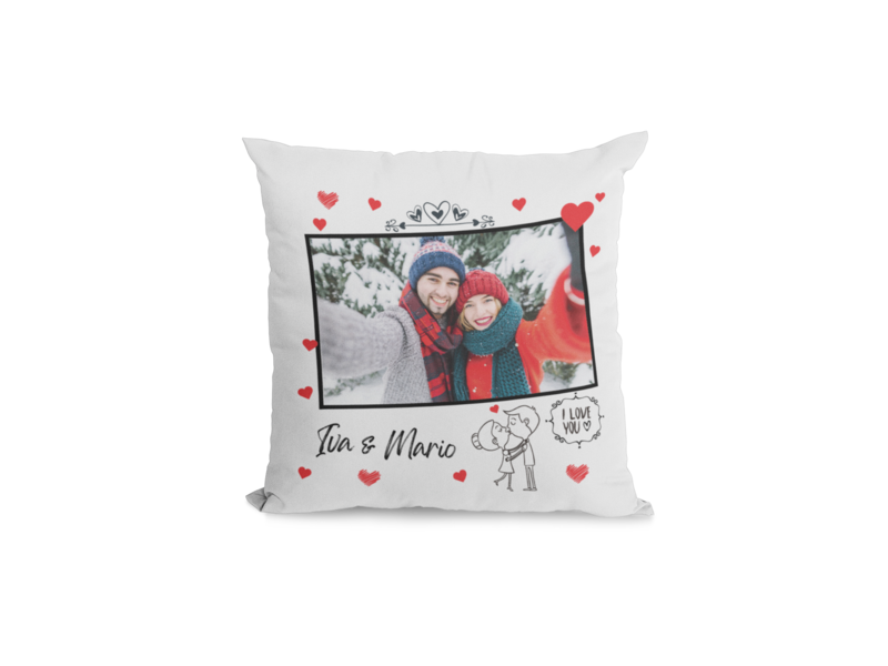 I love you - personalizirani tisak na jastučnicu