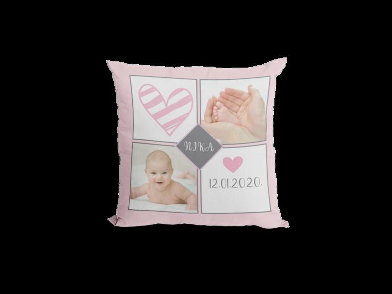 Beba djevojčica - personalizirani tisak na jastučnicu