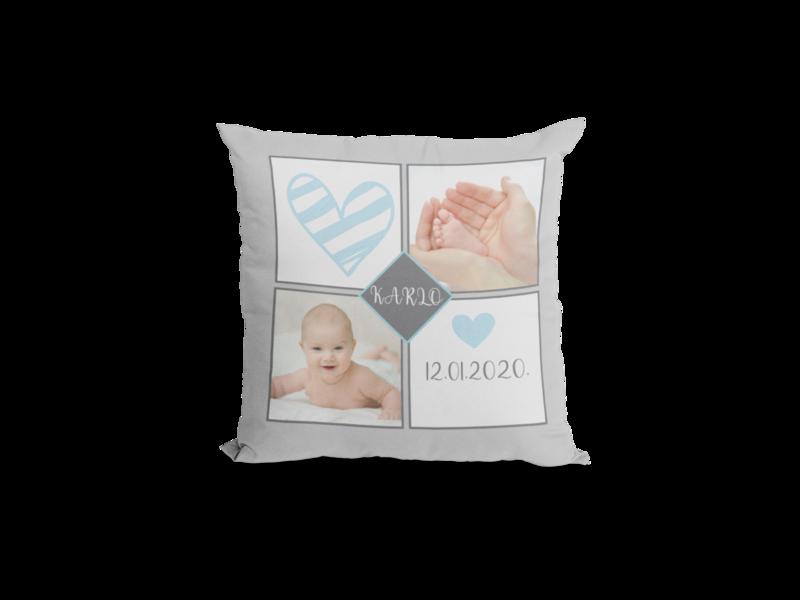 Beba dječak - personalizirani tisak na jastučnicu